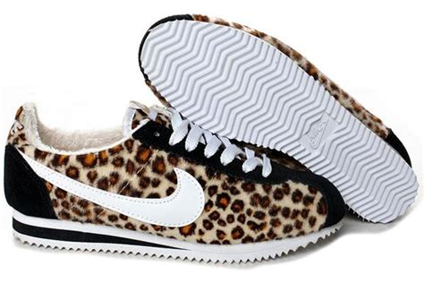 leopard printed nike cortez for style