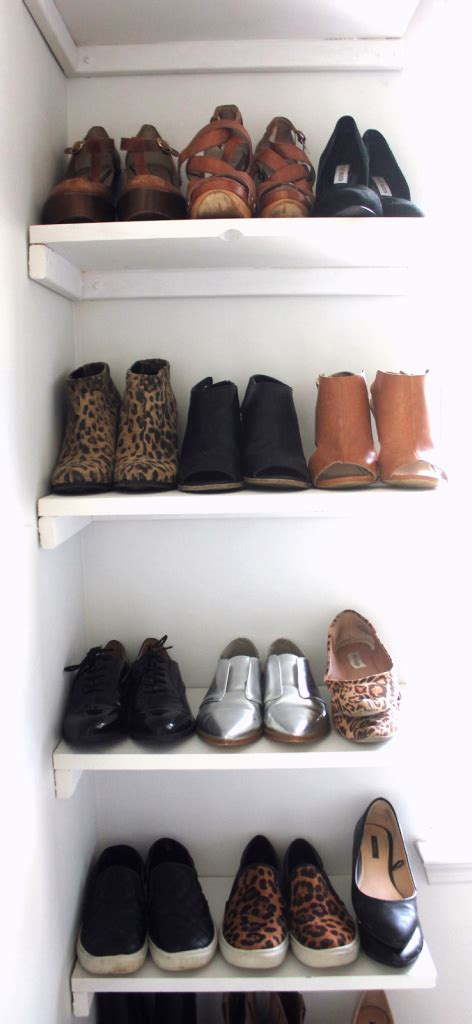 diy shoe shelves diy shoe rack like the yogurt
