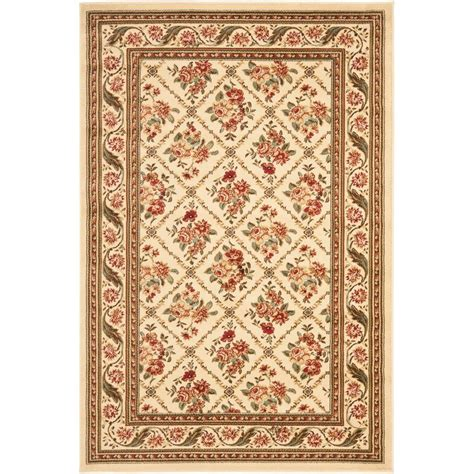Area Rug 4 X 6 Safavieh Lyndhurst Ivory 4 Ft X 6 Ft Area Rug Lnh556 1212 4 The Home Depot