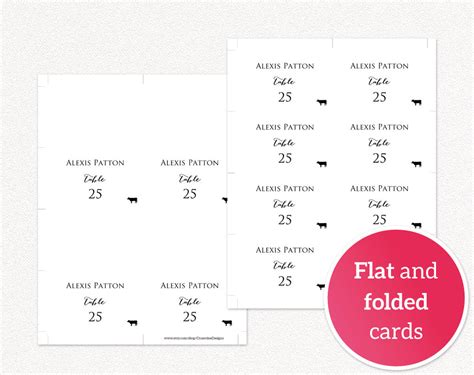 place cards with meal choice template place cards with meal option 183 wedding templates and