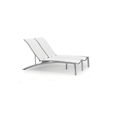 tropitone chaise tropitone 240575 south beach relaxed sling double chaise
