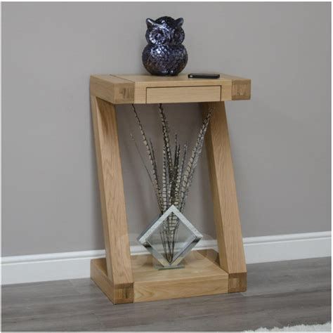 Small Console Table For Hallway Zouk Solid Oak Designer Furniture Small Console Hallway Table Ebay