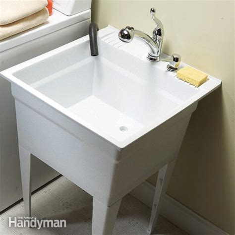 laundry room sinks and faucets upgrade your laundry sink the family handyman