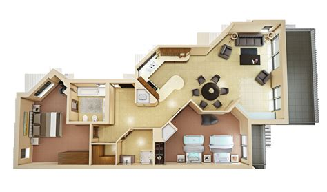 3d floor plan 4 3d model max cgtrader com