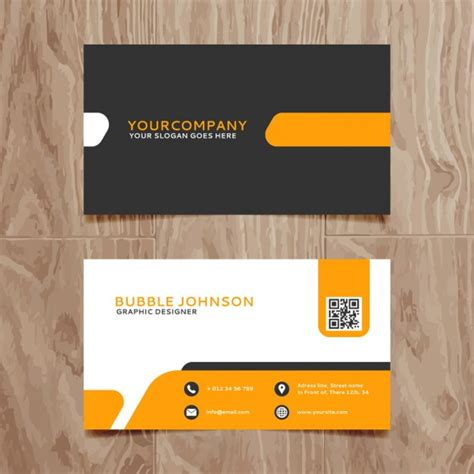 ai business card template free modern simple business card template vector free
