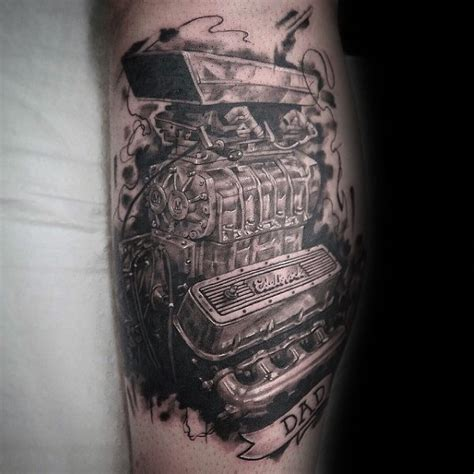 engine parts tattoo designs 50 engine tattoos for motor design ideas