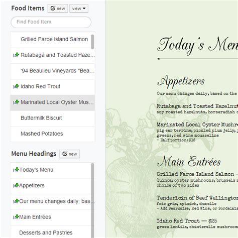 how to make a menu card for restaurant food menu list food