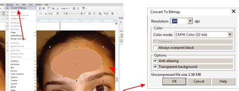tutorial edit foto coreldraw x7 cara menghilangkan jerawat wajah dengan coreldraw x7