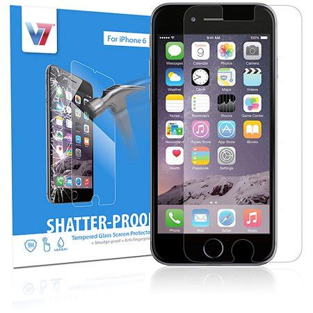 iphone 6 v7 shatterproof tempered glass screen protector walmart
