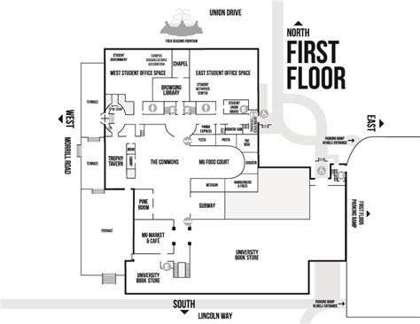 lincoln memorial floor plan building maps memorial union