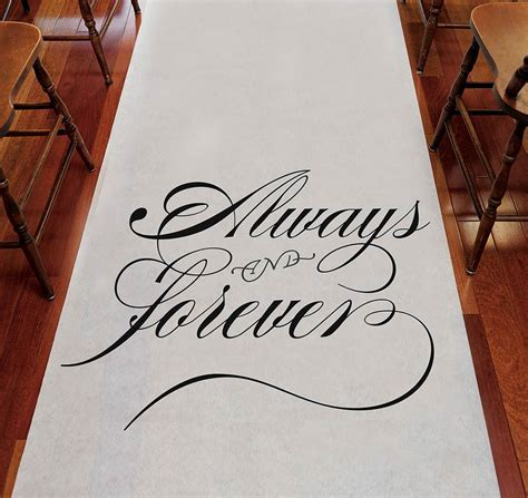 Always & Forever Aisle Runner   Wedding Aisle Runner