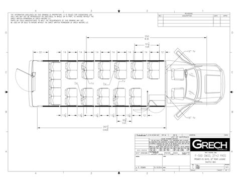 Floorplan Drawing Website gm33 shuttle bus ford f 550 chassis grech motors