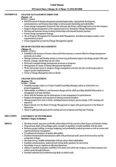 Change Management Resume by Change Management Resume Sles Velvet