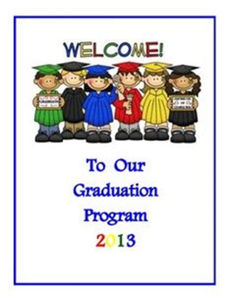 preschool graduation program templates free 1000 images about graduation on kindergarten