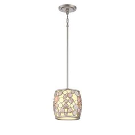 Style Selections Pendant Light Shop Style Selections Fairgate 8 In W Silver Hardwired Standard Mini Pendant Light With Fabric