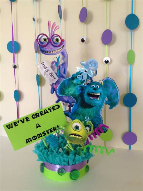 monsters inc baby shower centerpieces monsters inc baby shower centerpiece baby shower centerpiece