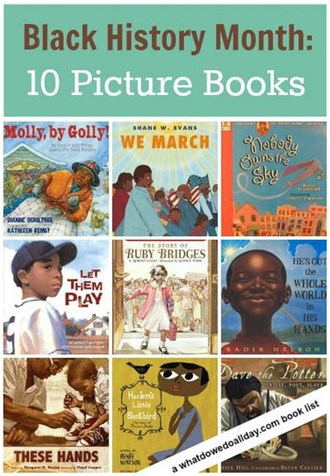 black picture book picture books for black history month