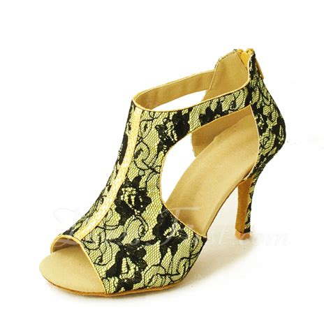 High Heels G 5059 s satin lace heels sandals shoes