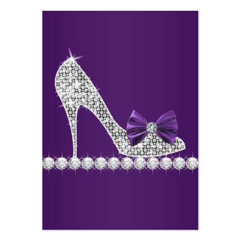 High Heel Shoe Template For Card by Purple High Heel Shoe Business Cards Zazzle