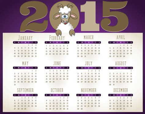 design calendar for 2015 creative calendar 2015 vector design set 04 over