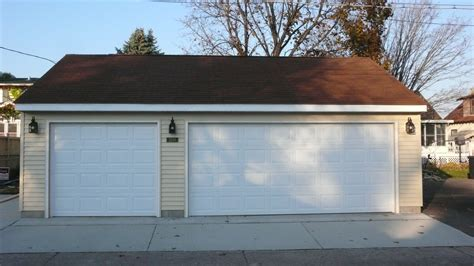Width 2 Car Garage by Typical Two Car Garage Door Dimensions Wageuzi