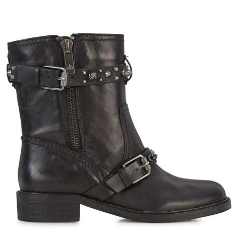 sam edelman studded leather biker boots in black lyst