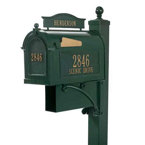 mailbox with whitehall mailbox with name address
