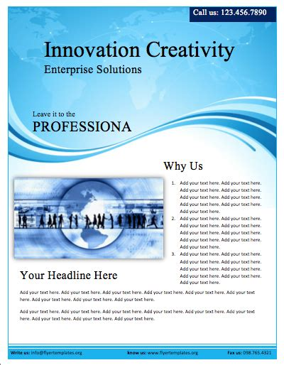 flyer template for microsoft word free flyers templates cyberuse