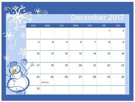 2017 calendar december christmas 2017 calendar printable