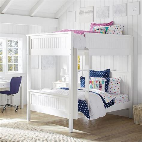 beadboard loft bed loft beds belden bunk pottery barn