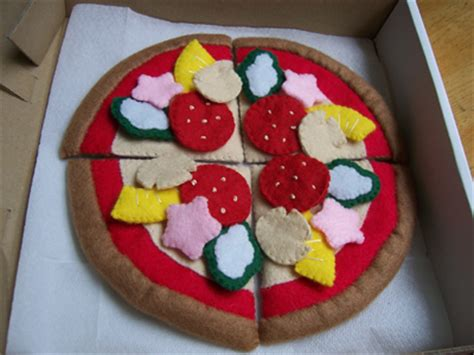 pattern for felt pizza felt food pizza no 04 pdf patterns felt