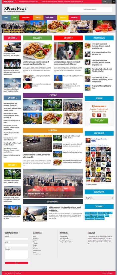 themes blogger 2014 xpress news blogger template blogger templates 2018