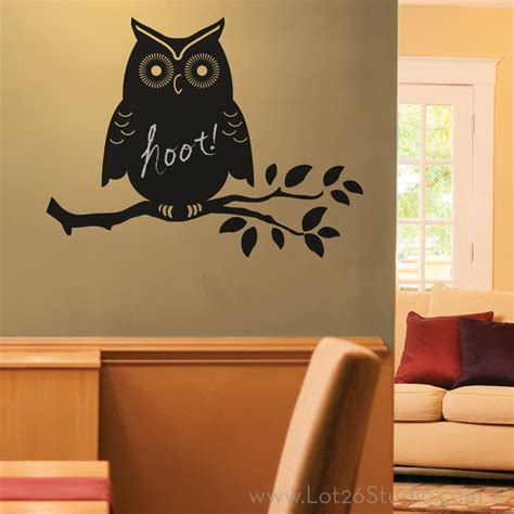 chalkboard wall stickers owl chalkboard wall decal wall decals san francisco by lot 26 studio inc