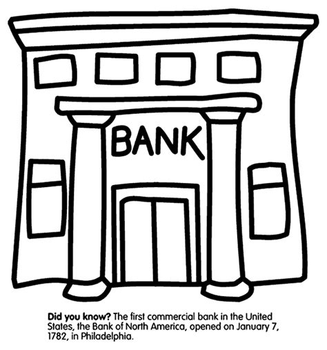 first us bank coloring page crayola com