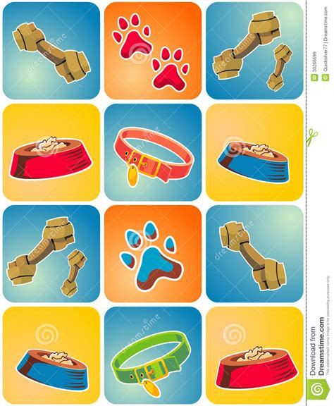 puppy things icon theme stock illustration illustration of computer 30266699