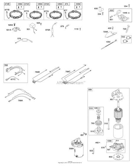briggs and stratton 445677 engine diagram briggs and