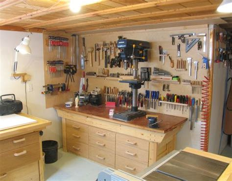 workshop tool layout my basement workshop 2009