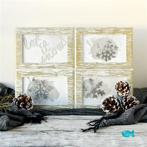 home decor tutorial rustic frosted frames winter home decor diy project tutorial
