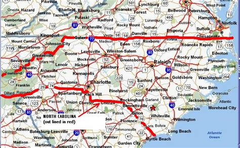 nc state map detailed road map of nc pictures to pin on pinsdaddy