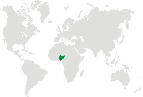 where is nigeria on a world map maps world map nigeria