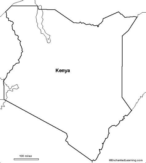 Printable Map Kenya | outline map research activity 3 kenya