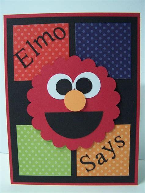 Handmade Boys Birthday Cards - handmade greeting card sesame elmo birthday card