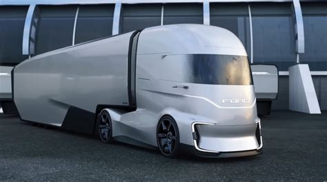 ford semi committed maker reveals ev concept truck thedetroitbureaucom