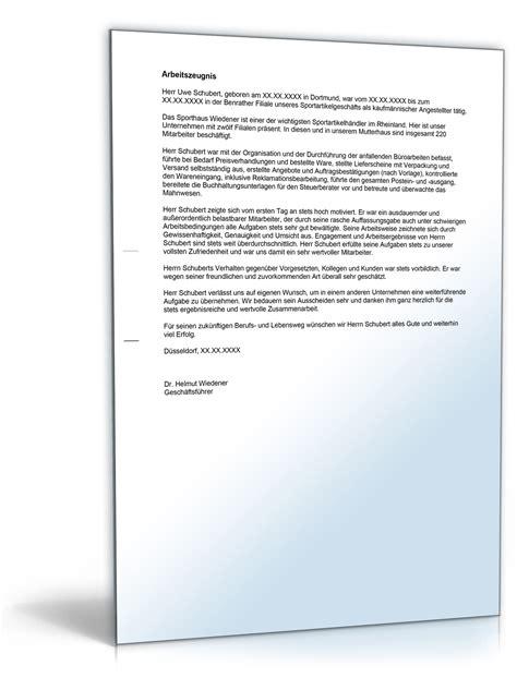 Anschreiben Bewerbung Kaufmannische Ausbildung Arbeitszeugnis Quot Sehr Gut Quot Kaufm 228 Nnische R Angestellte R