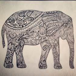 indian doodle indian elephant outline search inspiration