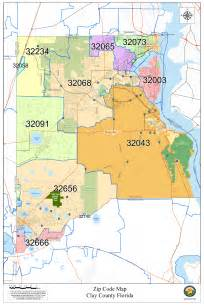 Duval County Zip Code Map by Visitor Attractions In Clay County Florida