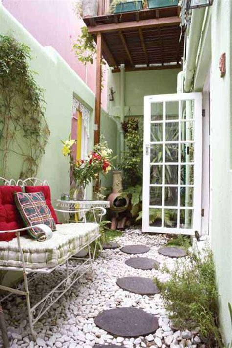 cool ideas  narrow  long outdoor spaces