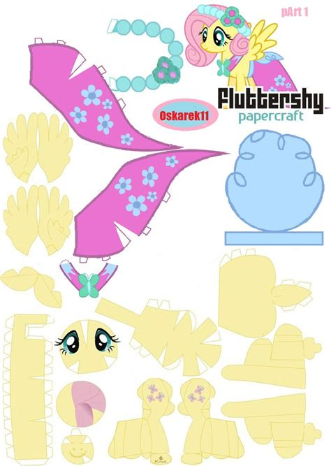 Papercraft My Pony - papercraft fluttershy royal wedding part 1 by oskarek11
