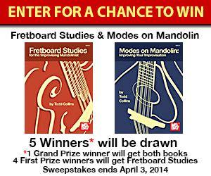 Mandolin Giveaway - mel bay mandolin studies giveaway