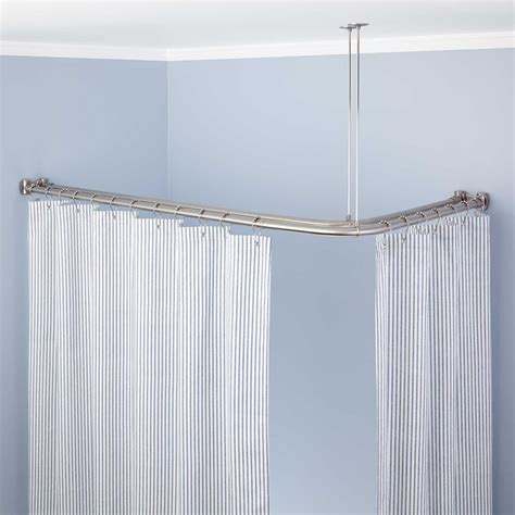 curtain rod corner corner double solid brass shower curtain rod bathroom